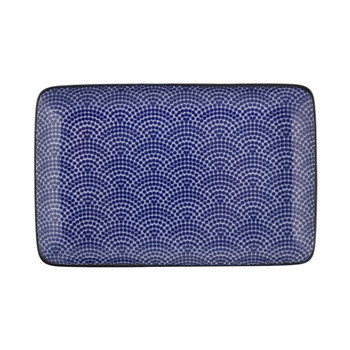 Nippon Blue Rectangular Plate - Dot