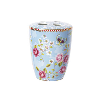 Chinese Blossom Toothbrush Holder - Blue