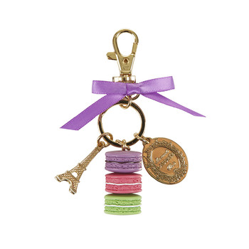 Macarons Keyring - Small - Cassis Violet