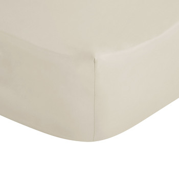 Cream Egyptian Cotton Fitted Sheet