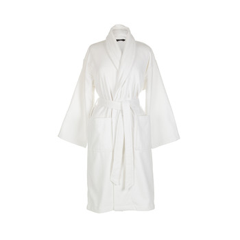 Supreme Velour Bathrobe - White