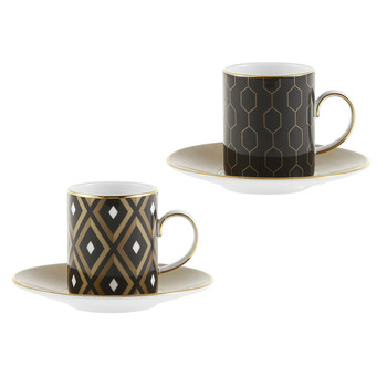 Arris Espresso Cup & Saucer - Set of 2