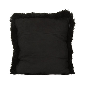 New Zealand Sheepskin Pillow - 50x50cm - Black
