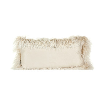 Tibetan Sheepskin Pillow - 28x56cm - Arctic Sunrise
