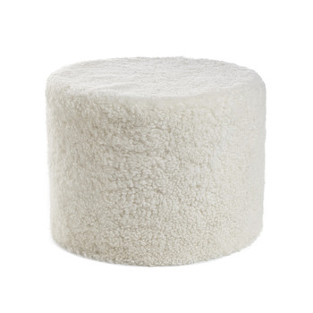 New Zealand Sheepskin Pouf - Ivory