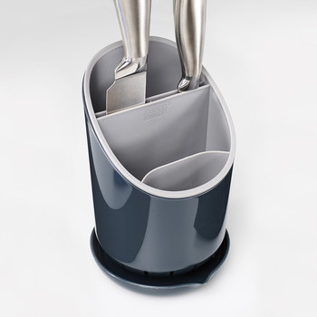 Cutlery Drainer and Organiser - Dark Grey/Grey