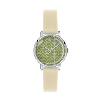 Ladies Patricia Watch - Cream/Green