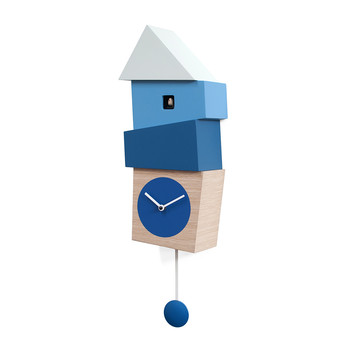 Crooked Wall Clock - Blue