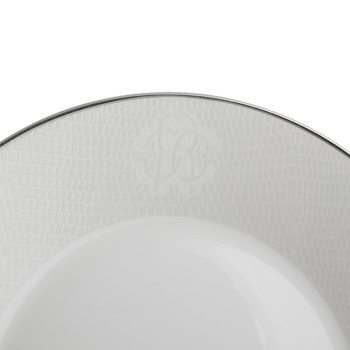 Lizzard Soup Plates - Set of 6 - Platinum