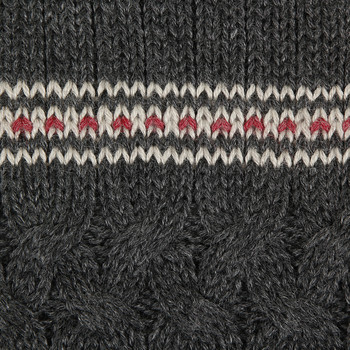 Alpaca Cable Knit Scarf - Charcoal