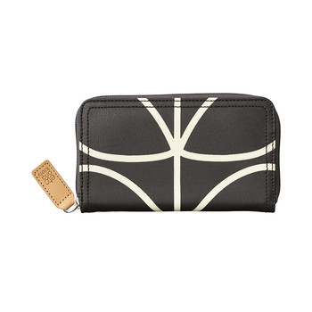 Linear Stem Big Zip Purse - Liquorice