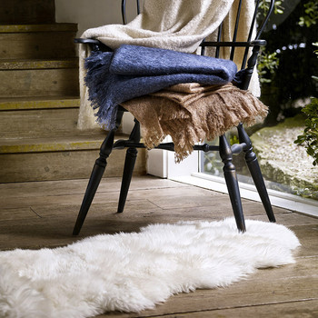 Sheepskin Area Rug - Double - Natural
