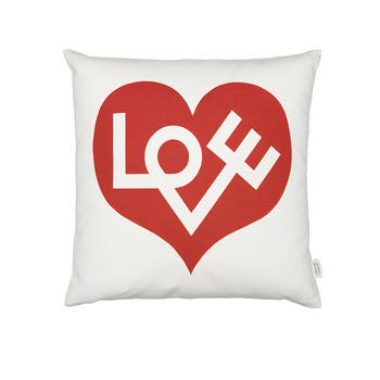 Graphic Love Cushion - 40x40cm - Red