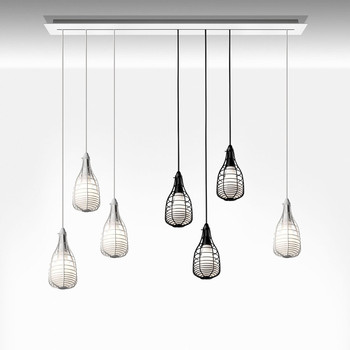 Small Cage Ceiling Light - White