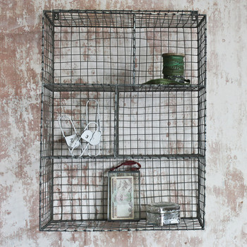Locker Room Shelf - Distressed Grey/Cream