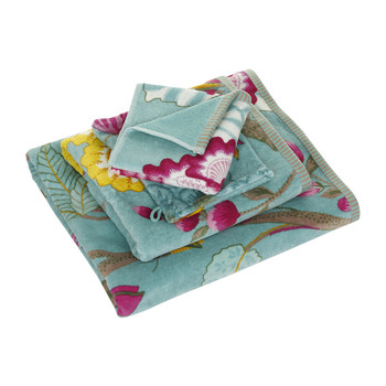 Floral Fantasy Towel - Light Petrol