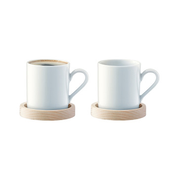 Circle Espresso Cup & Ash Saucer - Set of 2