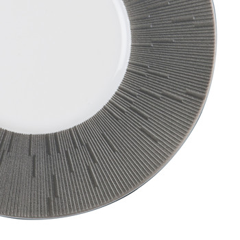 Infini Dark Gray Bread Plate