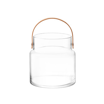 Utility Pot & Leather Handle - Clear