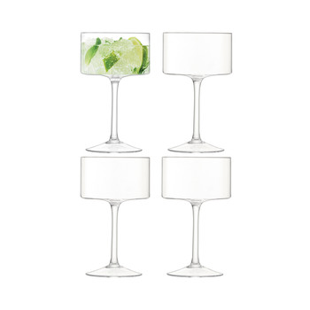 Otis Champagne/Cocktail Glass - Clear - Set of 4