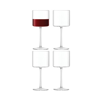 Otis Red Wine - Clear - Set of 4