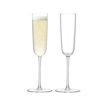 Olivia Champagne Flute - Clear - Set of 2