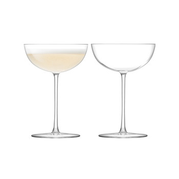 Olivia Champagne Saucer - Clear - Set of 2