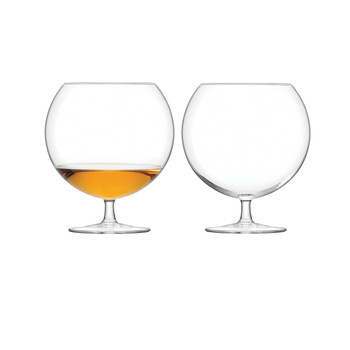 Olivia Cognac Glass - Clear - Set of 2