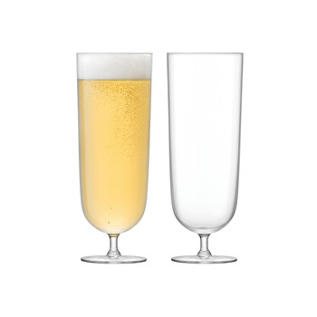 Olivia Lager Glass - Clear - Set of 2