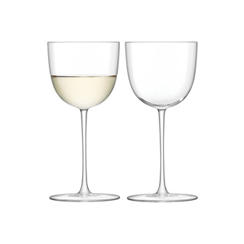 Olivia White Wine Glass - Clear - Set of 2