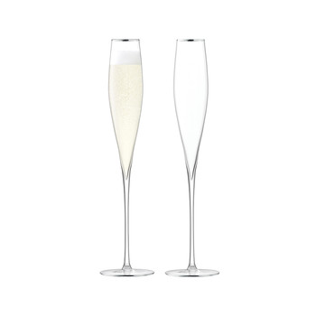 Celebrate Champagne Flute - Set of 2 - Platinum
