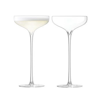 Celebrate Champagne Saucer - Set of 2 - Clear