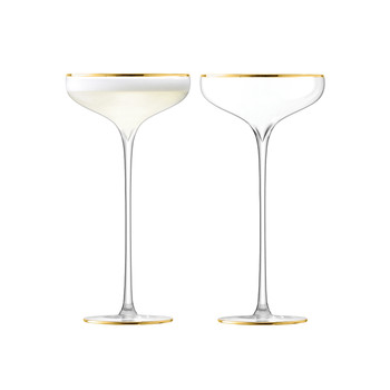Celebrate Champagne Saucer - Set of 2 - Gold