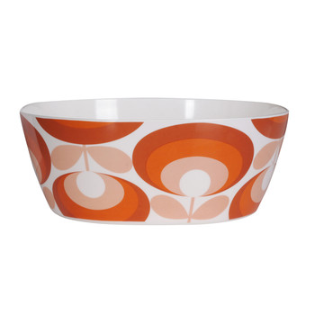 '70s Flower Red Salad Bowl