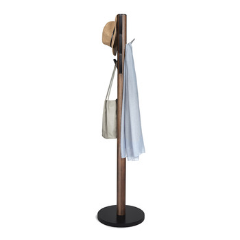 Flapper Coat Stand - Black/Walnut