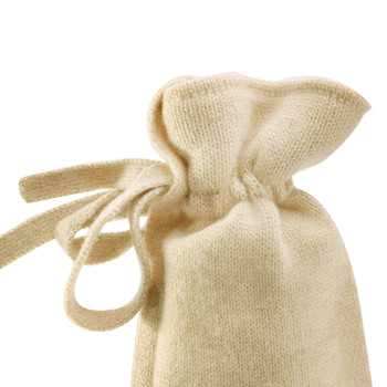Classic Cashmere Knit Hot Water Bottle - Champagne Glitz