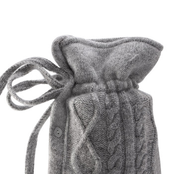 Kensington Cable Cashmere Blend Hot Water Bottle - Stone