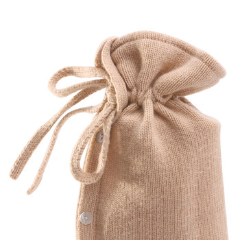 Classic Knit Cashmere Blend Hot Water Bottle - Beige
