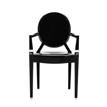 Loulou Ghost Children's Chair - Glossy Black