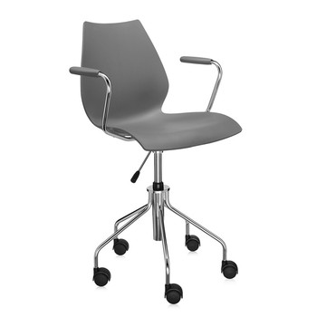 Kartell - Fauteuil Pivotant Maui - Anthracite