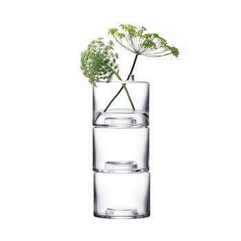 Stack Vase Trio - Clear