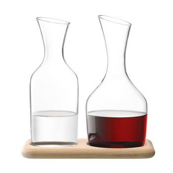 Water/Wine Carafe & Oak Base