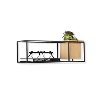 Cubist Wall Shelf - Natural Beech/Black