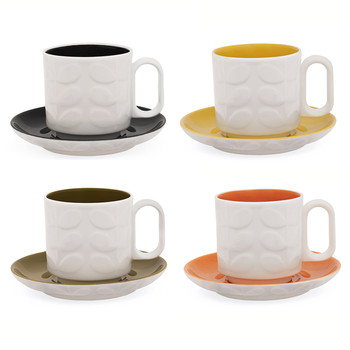 Raised Stem Espresso Cup - Assorted set of 4