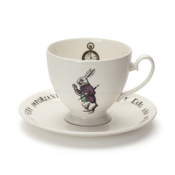 White Rabbit Teacup & Saucer