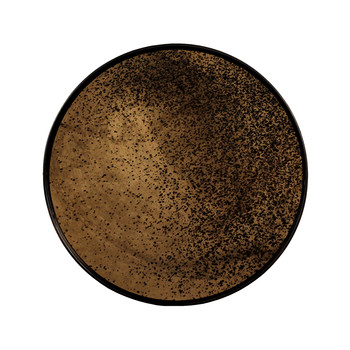 Heavy Aged Bronze Mirror Tray - Round - Small