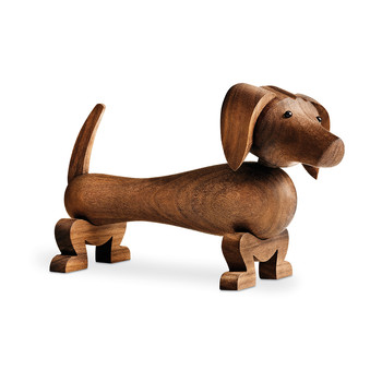 Dog Wooden Figurine - Walnut