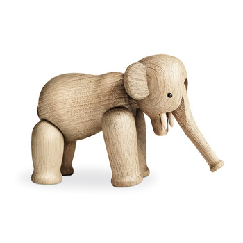 Elephant Wooden Figurine - Oak