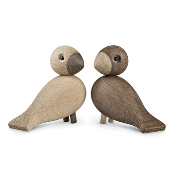 Lovebirds - Set of 2 - Natural/Smoked Oak