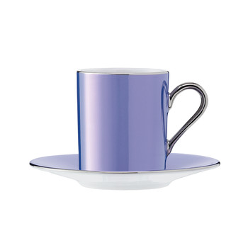 Polka Assorted Coffee Cups & Saucers - Set of 4 - Pastel